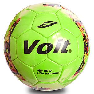 Мяч футбольный №5 PU ламин. VOIT FB-0717 (№5, 5 сл., сшит вручную, салатовый), фото 2