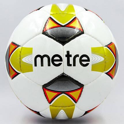 Мяч футбольный №5 PU ламин. METRE T-6045 (№5, 5 сл., сшит вручную, цвета в ассортименте), фото 2
