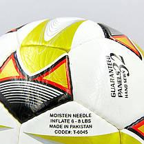 Мяч футбольный №5 PU ламин. METRE T-6045 (№5, 5 сл., сшит вручную, цвета в ассортименте), фото 3
