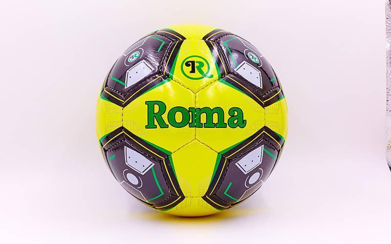 Мяч футбольный №5 PU ламин. ROMA T-1067 (№5, 5 сл., сшит вручную)