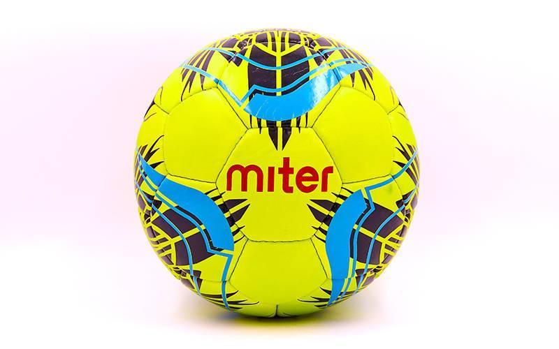 Мяч футбольный №5 PU ламин. MITER FB-6762-1 салатовый (№5, 5 сл., сшит вручную)