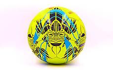 Мяч футбольный №5 PU ламин. MITER FB-6762-1 салатовый (№5, 5 сл., сшит вручную), фото 2