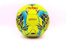 Мяч футбольный №5 PU ламин. MITER FB-6762-1 салатовый (№5, 5 сл., сшит вручную), фото 3