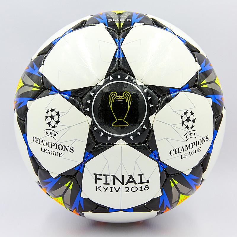 Мяч футбольный №5 PU ламин. LIGA CHAMPIONS 2018 FB-8132 (№5, 5 сл., сшит вручную)