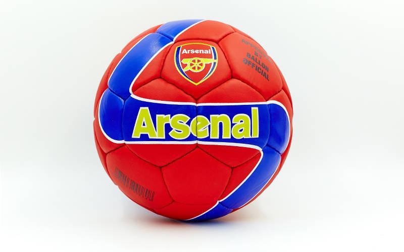 Мяч футбольный №5 Гриппи 5сл. ARSENAL FB-0047A-443 (№5, 5 сл., сшит вручную)