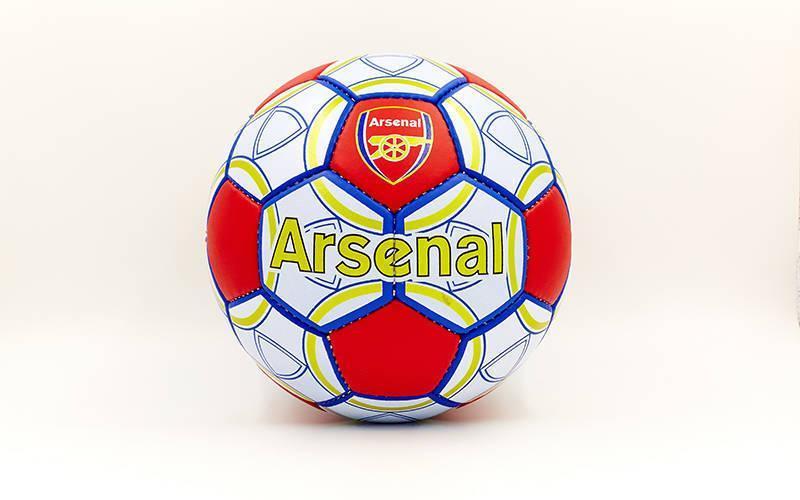 Мяч футбольный №5 Гриппи 5сл. ARSENAL FB-0047-150 (№5, 5 сл., сшит вручную)