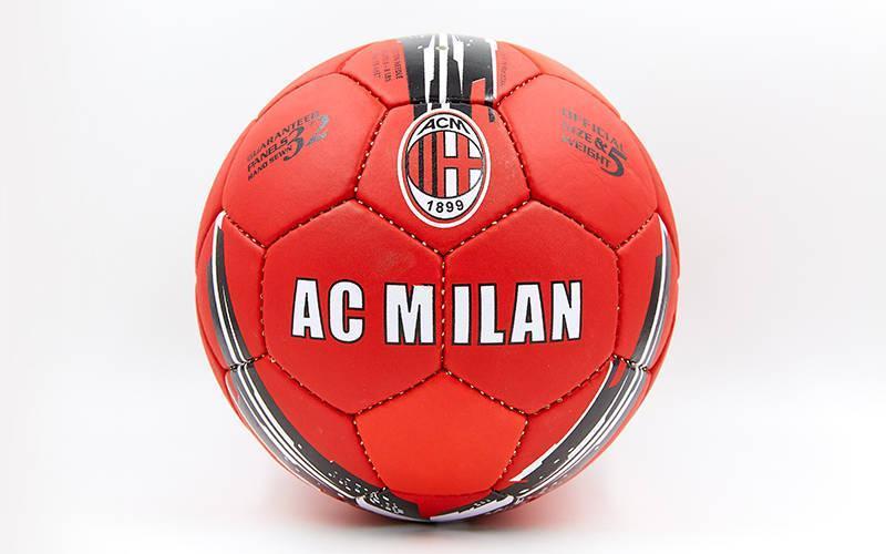 Мяч футбольный №5 Гриппи 5сл. AC MILAN FB-6687 (№5, 5 сл., сшит вручную)