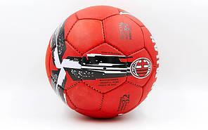 Мяч футбольный №5 Гриппи 5сл. AC MILAN FB-6687 (№5, 5 сл., сшит вручную), фото 2