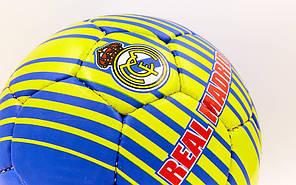 Мяч футбольный №5 Гриппи 5сл. REAL MADRID FB-6684 (№5, 5 сл., сшит вручную), фото 3