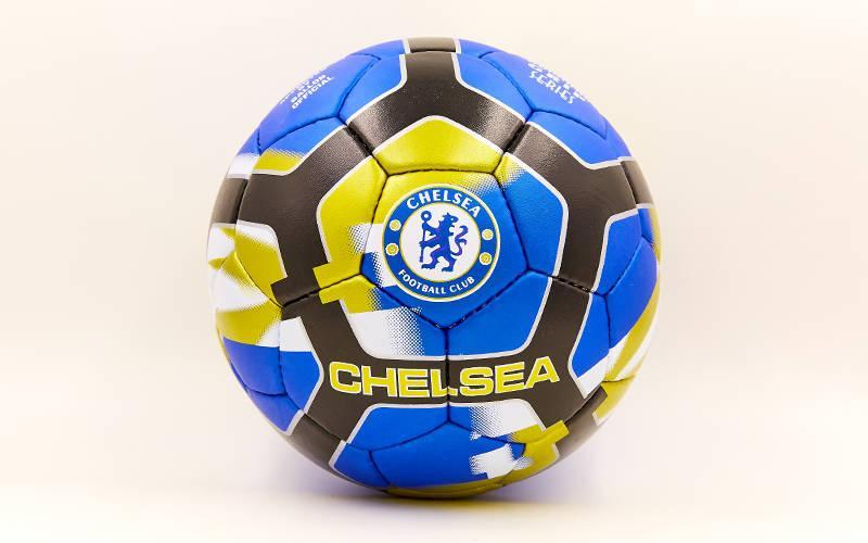 Мяч футбольный №5 Гриппи 5сл. CHELSEA FB-6698 (№5, 5 сл., сшит вручную)