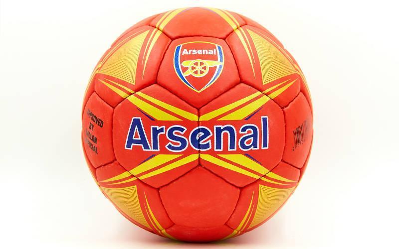 Мяч футбольный №5 Гриппи 5сл. ARSENAL FB-6717 (№5, 5 сл., сшит вручную)