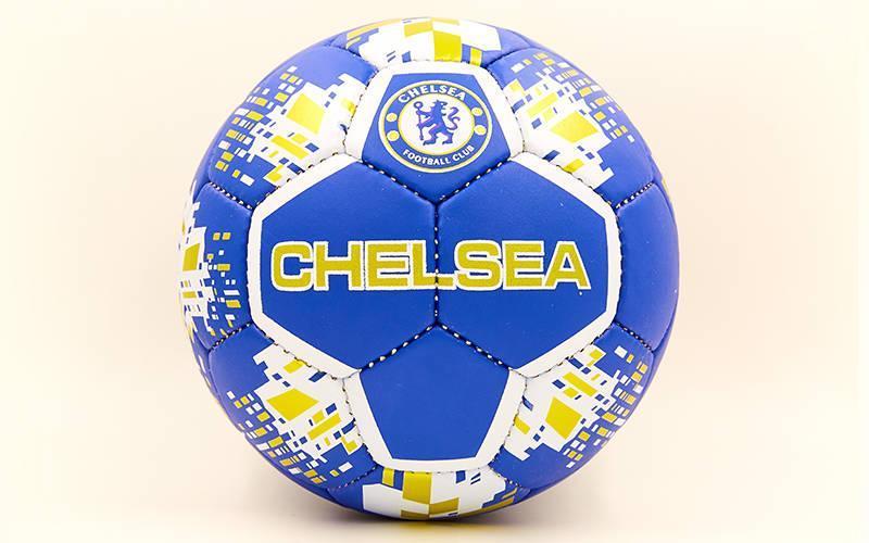 Мяч футбольный №5 Гриппи 5сл. CHELSEA FB-6699 (№5, 5 сл., сшит вручную)