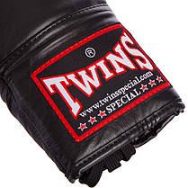 Перчатки боксерские кожаные на шнуровке TWINS BGLL1 (р-р 12-18oz, цвета в ассортименте), фото 2