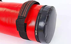 Мешок для кроссфита и фитнеса UR FI-6574-20 (PVC, нейлон, вес 20кг, р-р 56x22см, красный-черный), фото 3