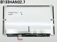 Матрица 13.3 Slim eDP (1920*1080, IPS, 30pin слева, ушки сверху-снизу) AUO B133HAN02.7, Матовая. Тонкая для ноутбука Asu