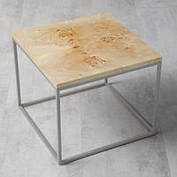 Стол из массива дерева тополя лофт мебель 70Х70Х46 см