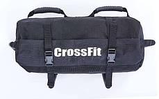 Сумка для кроссфита Sandbag FI-6232-1 40LB (PU, вес до 18 кг, 4 филлера для песка, черный), фото 2