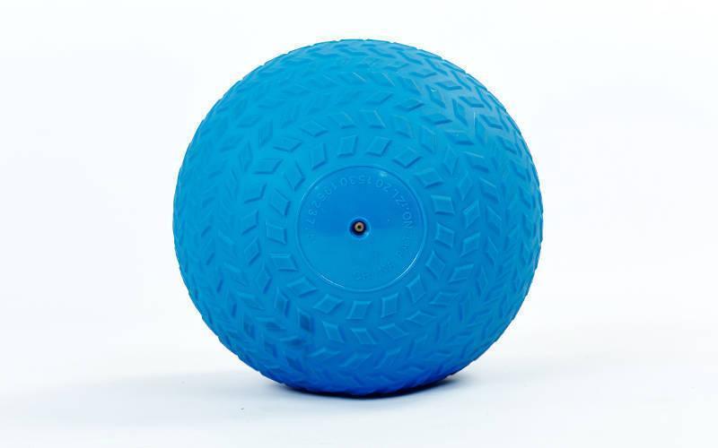 Мяч набивной слэмбол для кроссфита рифленый Record SLAM BALL FI-5729-6 6кг (PVC, минеральный наполнитель,