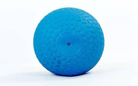 Мяч набивной слэмбол для кроссфита рифленый Record SLAM BALL FI-5729-6 6кг (PVC, минеральный наполнитель,, фото 2