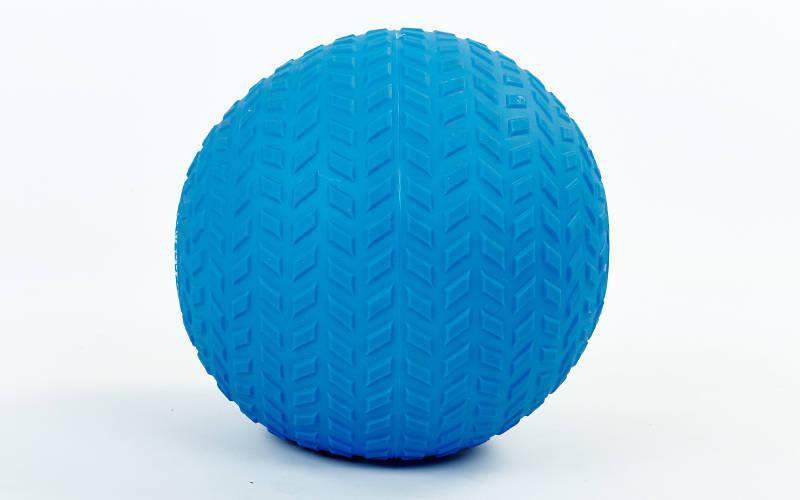 Мяч набивной слэмбол для кроссфита рифленый Record SLAM BALL FI-5729-4 4кг (PVC, минеральный наполнитель,