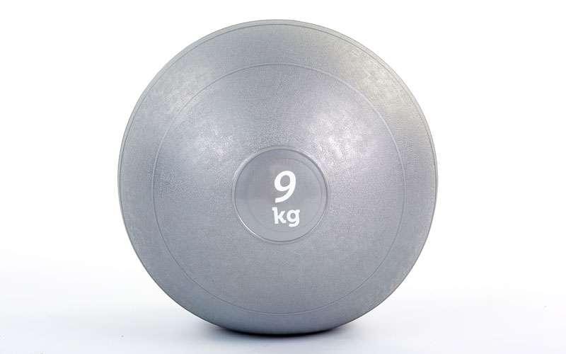 Мяч набивной слэмбол для кроссфита Record SLAM BALL FI-5165-9 9кг (резина, минеральный наполнитель, d-23см,