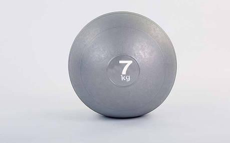 Мяч набивной слэмбол для кроссфита Record SLAM BALL FI-5165-7 7кг (резина, минеральный наполнитель, d-23см,, фото 2