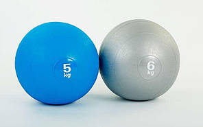 Мяч набивной слэмбол для кроссфита Record SLAM BALL FI-5165-5 5кг (резина, минеральный наполнитель, d-23см,, фото 3