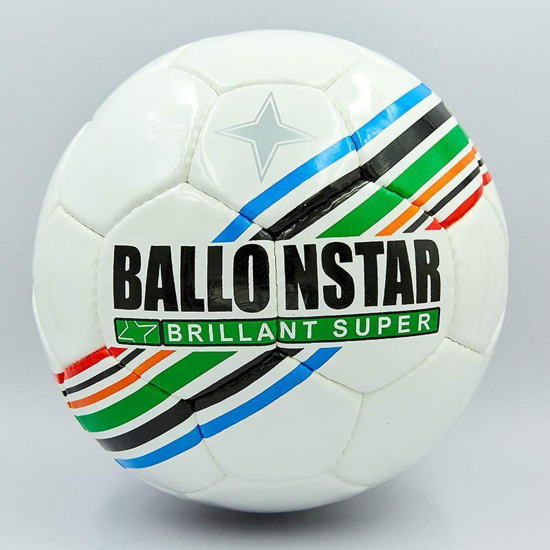 Мяч футбольный №5 PU ламин. BALLONSTAR FB-5415-2 (№5, 5 сл., сшит вручную)