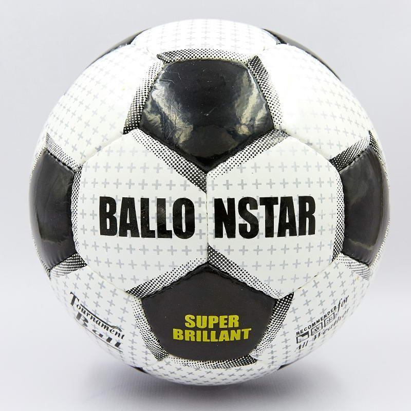 Мяч футбольный №5 PU ламин. BALLONSTAR SUPER BRILLANT FB-0167 (№5, 5 сл., сшит вручную)