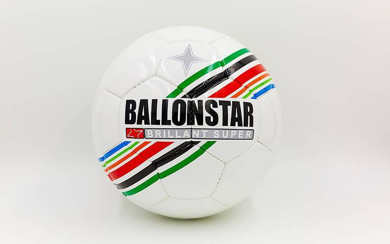 Мяч футбольный №5 PU ламин. BALLONSTAR FB-5415-1 (№5, 5 сл., сшит вручную)