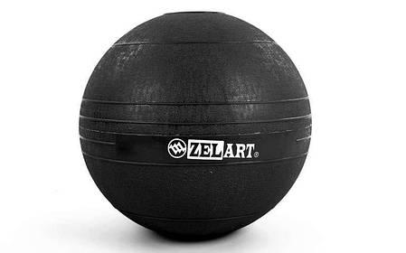 Мяч набивной слэмбол для кроссфита Record SLAM BALL FI-5165-10 10кг (резина, минеральный наполнитель,, фото 2