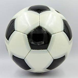 Мяч футбольный №5 PU ламин. OFFICIAL FB-0169-1 черный (№5, 5 сл., сшит вручную), фото 2