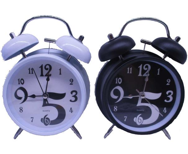 Часы-будильник металлические диаметр 11.5 см
