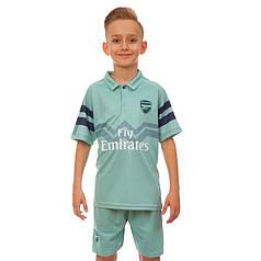 Форма футбольная детская ARSENAL резервная 2019 Zelart CO-7291 (р-р 20-28 6-14 лет, 110-155см, мятный-синий)