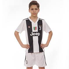 Форма футбольная детская JUVENTUS домашняя 2019 Zelart CO-8020 (р-р 20-28-6-14лет, 110-155см, белый-черный)