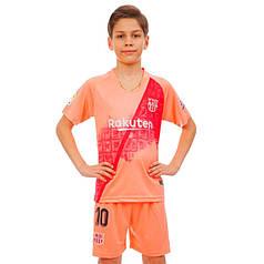 Форма футбольная детская BARCELONA MESSI 10 резервная 2019 Zelart CO-7295 (р-р 20-28 6-14лет, 110-155см,