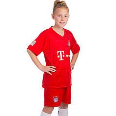 Форма футбольная детская BAYERN MUNCHEN домашняя 2020 Zelart CO-0956 (р-р 20-28-6-14лет, 110-155см, красный)