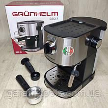 Еспрессо кавоварка Grunhelm GEC17 ріжкова