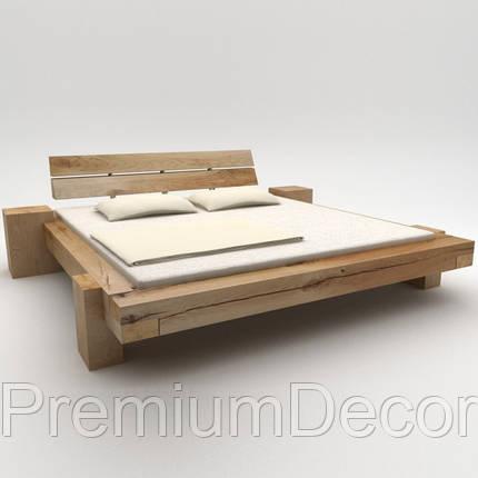 Кровать из балок в стиле лофт из натурального дерева дуба, фото 2