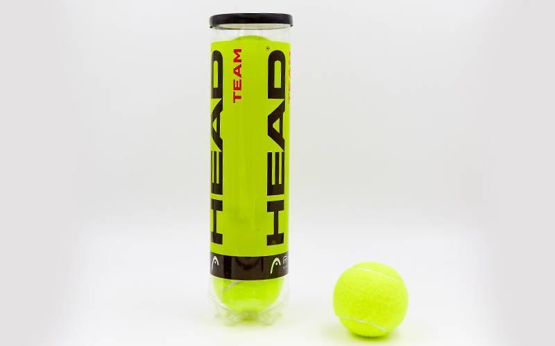 Мяч для большого тенниса HEAD (4шт) 575904 TEAM (в вакуумной упаковке, салатовый)