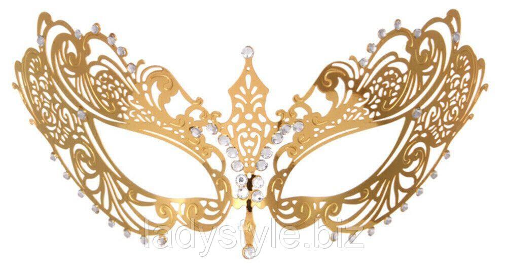 """Венецианская  Маска """"Золотая""""    от LadyStyle.Biz"""