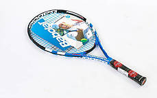 Ракетка для большого тенниса юниорская BABOLAT 140059-100 RODDICK JUNIOR 140 (голубой), фото 3
