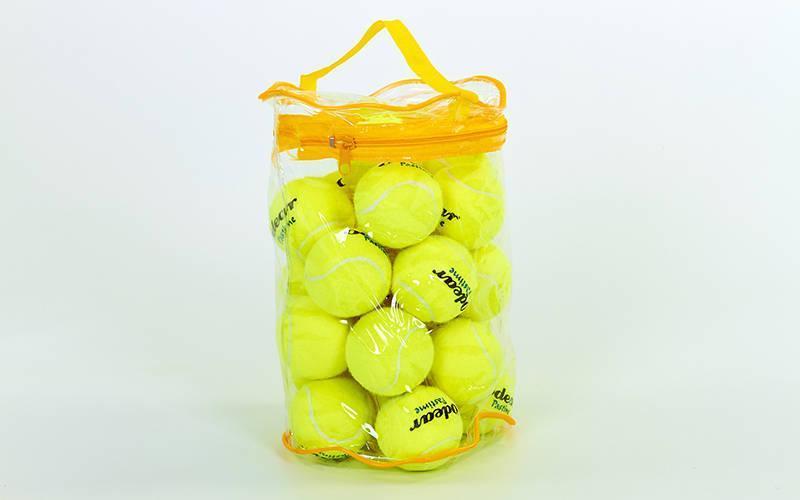 Мяч для большого тенниса (24шт) ODEAR 901-24 (PVC сумка, салатовый)