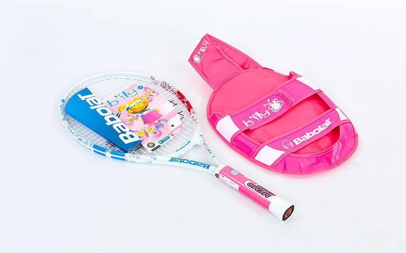 Ракетка для большого тенниса юниорская BABOLAT 140096-100 B FLY 140 JUNIOR (голубой)