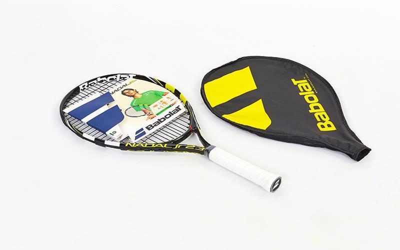 Ракетка для большого тенниса юниорская BABOLAT 140132-142 NADAL JUNIOR 23 (черный-желтый)