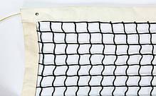 Сетка большой теннис С-0051 (нейлон, р-р 12,8х1,08м, ячейка 5x5см, с метал.тросом, черный), фото 3