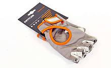 Перчатки для фитнеса KETTLER KTLR7370-093 размер XL серый-оранжевый, фото 3