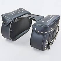 Мотосумка (2 кофра) H20 (PVC, р-р 56x32x20см, черный), фото 3