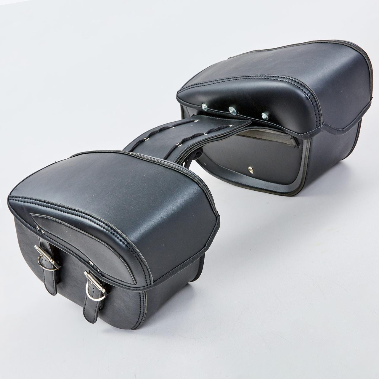 Мотосумка (2 кофра) H01-2 (PVC, р-р 49x31x15см, черный)
