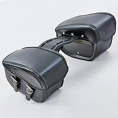 Мотосумка (2 кофра) H01-2 (PVC, р-р 49x27x15см, черный)